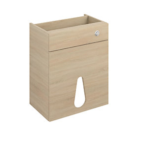 iflo Aliano WC Base Unit Oak and Panel 600 x 380mm