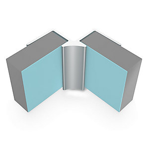 Multipanel Classic Type A - Internal Corner Profile Satin Anodised