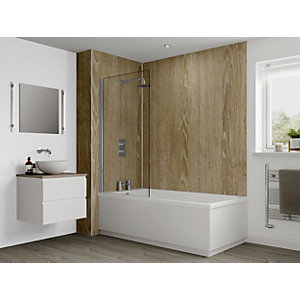 Multipanel Heritage Bathroom Panels Hydrolock 2400 X 1200mm Rural Oak