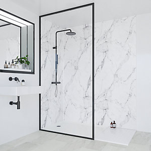 Multipanel Heritage Bathroom Wall Panel Hydrolock 2400 x 1200mm Calacatta Marble 3460