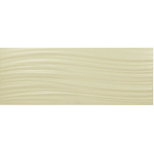 Johnson Tones Cream Wave Matt Wall Tile 400 x 150 mm (Pack Of 17)