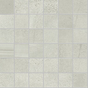 Rhin White Mosaic Matt Wall & Floor Tile 300 x 300 mm (Pack Of 6)