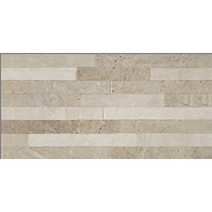 Splitface Beige Matt Wall Tile 460 x 230 mm (Pack Of 10)