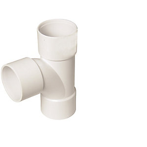 Floplast 40MM ABS TEE 90 Degree White (WS23W) PAC KOf 3