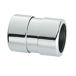 McAlpine Brass Straight Coupling Chrome Plated 42mm 42G-CB