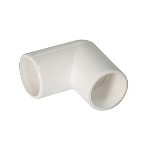 Floplast 21.5mm Overflow System 90 Bend  White Pack of 5 OS11W