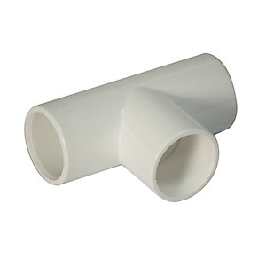 Floplast 21.5mm Overflow System Equal Tee White Pack of 5 OS13W