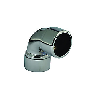 McAlpine Chrome on Brass Compression Elbow 42mm x 90 Degree 42A-CB