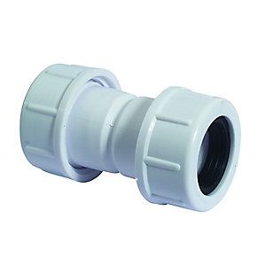 McAlpine Overflow Straight Connector 19mm x 23mm R1M