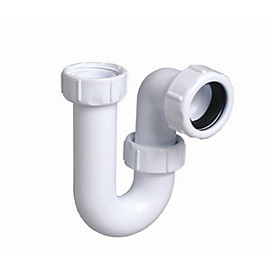 Multikwik Tubular Swivel Trap White 40mm P040
