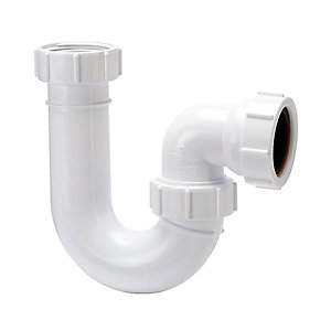 Polypipe 40mm P Trap Seal White 75mm PWT63