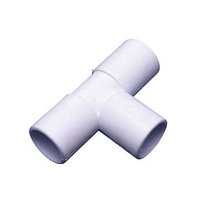 Wavin Osma 90 Degree Overflow Waste Tee White 21.5mm