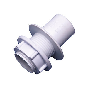 Wavin Osma Solvent Weld Overflow Straight Tank Connector 21.5mm 1E139W