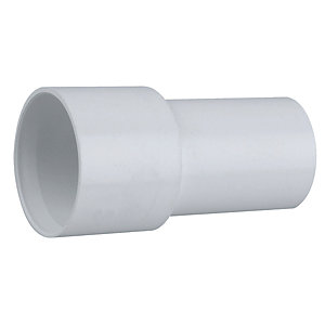 Wavin Osma Straight Overflow System Adaptor White 19mm 1O158
