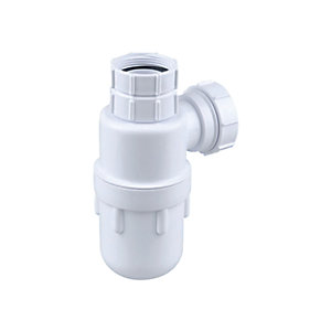 Wavin Osma Waste 32mm Adjustable Bottle Trap White 75mm 4V808W