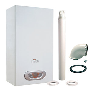 Ferroli Sky Eco 17F Natural Gas  Water Heater and Flue