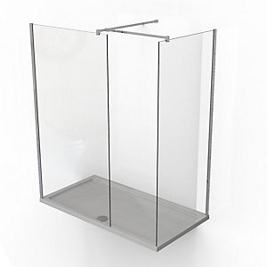 Kudos Ultimate2 10 mm Shower Enclosure Panel & Tray Pack 1500 x 900 mm 10WIC1590