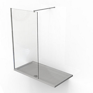 Kudos Ultimate2 8mm Walk In Shower Panel & Tray Pack 1500 x 700 mm 7WIR1570