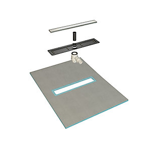 Novellini Duo Kit 6 Linear Wetroom 180 x 90 Center Drain G3
