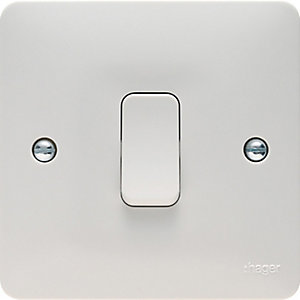 Hager 1 Gang 1 Way Light Switch - WMPS11