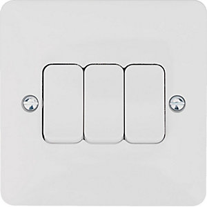 Hager 3 Gang 2 Way Light Switch - WMPS32