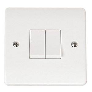 Mode 10AX 2 Gang 2 Way Light Switch - CMA012