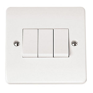 Mode 10AX 3 Gang 2 Way Light Switch - CMA013