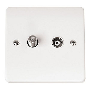 Mode Single Satellite & Coaxial Outlet - CMA156