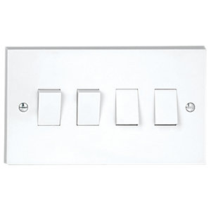 Vimark 10A 4 Gang 2 Way Light Switch - V1244