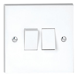 Vimark 2 Gang 2 Way Light Switch - V1204