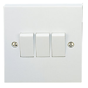 Vimark 3 Gang 2 Way Light Switch - V1205
