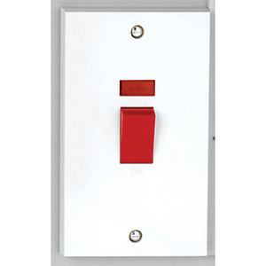 Vimark 50A Tall Double Pole Switch with Neon - V1301P