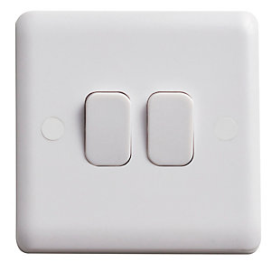 Vimark Curve 10A 2 Gang 2 Way Light Switch - VC1204