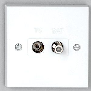 Vimark Satellite and Coaxial Outlet - V1266