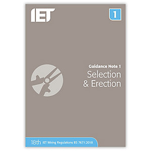 Iet Guidance Note 1: Selection & Erection