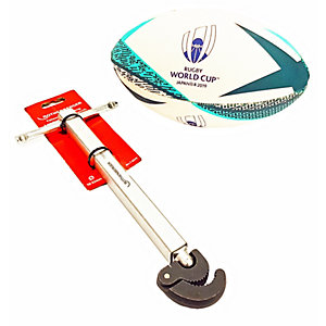 Rothenberger Telescopic Basin Wrench with Free Licensed Rugby World Cup Ball (Medium, Assorted Colours)