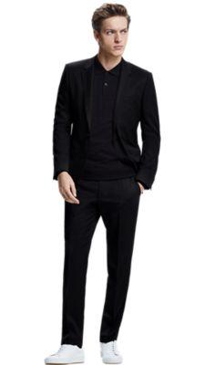 hugo boss black suit trousers