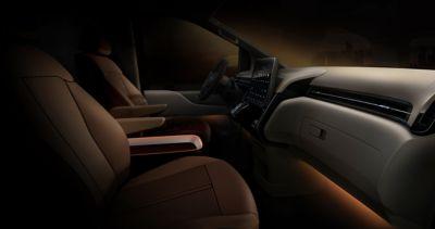 Moderní vzhled místa řidiče modelu Hyundai Staria.