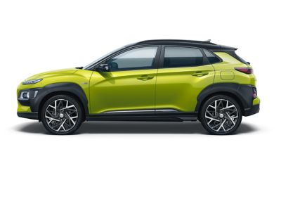 Image of the Kona Hybrid in Acid Yellow color.