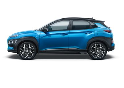 Image of the Kona Hybrid in blue lagoon color.
