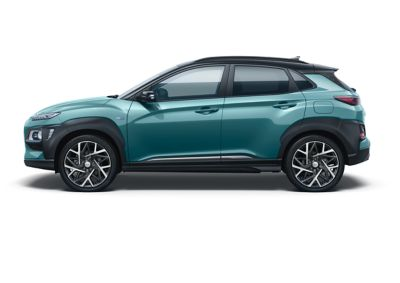 Image of the Kona Hybrid in ceramic blue color.