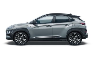 Image of the Kona Hybrid in lake silver color.