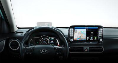 Ilustración de la alerta inteligente de límite de velocidad del nuevo Hyundai KONA Eléctrico.