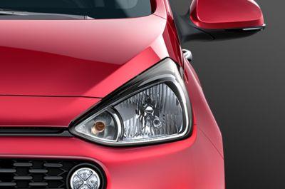 Elegantes molduras laterales del Hyundai i10.