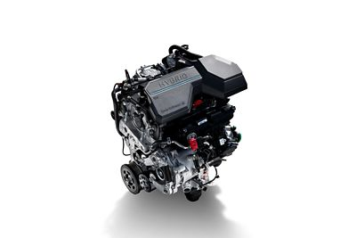 Hybridmotor i Santa Fe Plug-In Hybrid. Foto.