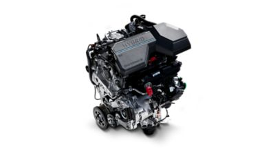 The state-of-the-art hybrid and plug-in hybrid engine in the the new Hyundai Santa Fe 7 seat SUV.