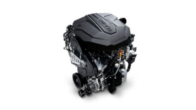 An image of the 2.2 SmartStream Diesel engine in the new Hyundai Santa Fe SUV.