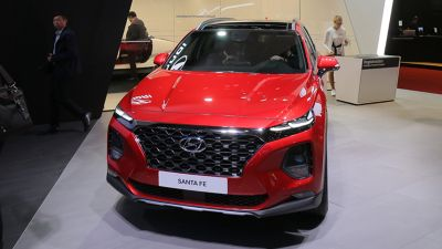 The all-new Hyundai Santa Fe at the Geneva Motor Show 2018.