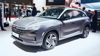 The all-new Hyundai Nexo at the Paris Motor Show 2019.