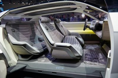 A picture of the interior of Hyundai's full electric concept car: 45.